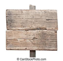 印, 板, 古い, 木, 木製である, 隔離された, white., 印。