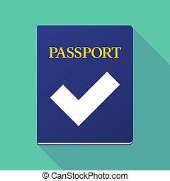 印, 点検, パスポート, 長い間, 影