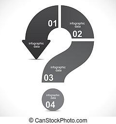 印, 質問, 創造的, infographics