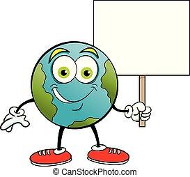 印。, 間, 保有物, 地球, 微笑, 漫画