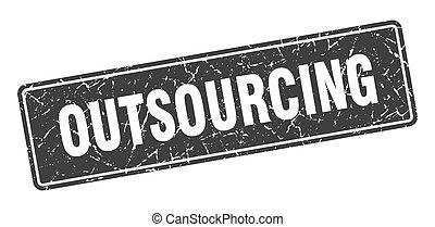 印, 黒, label., outsourcing, 型, stamp.