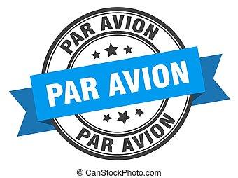 印。, avionround, label., パー, 切手, バンド, avion