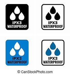 印, ipx3, 防水