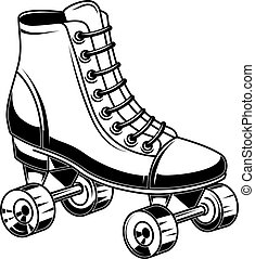 印, skates., イラスト, ラベル, 要素, デザイン, 紋章, ロゴ, poster., ローラー