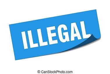 印。, sticker., illegal., 不法入国者, 皮むき器, 広場