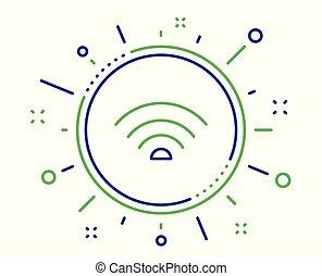 印。, wifi, ベクトル, インターネット, 線, wi - fi, icon.