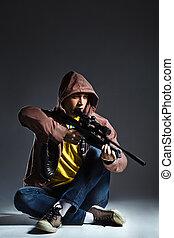 危ない, 狙撃兵, ライフル銃