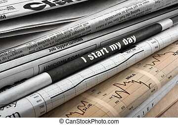 危機, 中に, ニュース