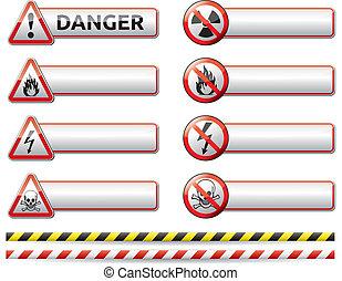 危险, 旗帜, 签署