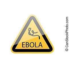 危険, シンボル, 伝染病, 印, 警告, ebola
