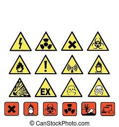 危険, 化学物質, サイン