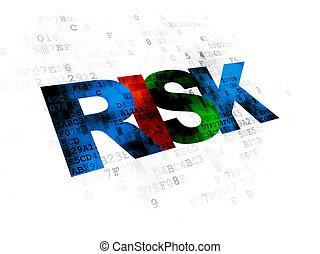 危険, concept:, 金融, 背景, デジタル