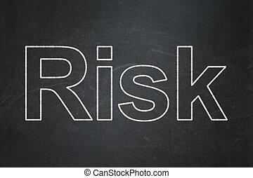 危険, concept:, 金融, 背景, 黒板