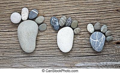 卵石, 家庭