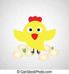 卵, めんどり, 漫画
