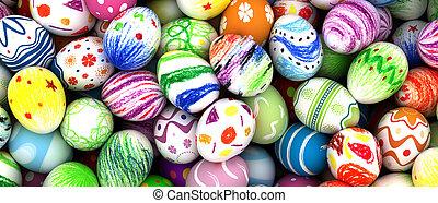 卵, イースター, ペイントされた