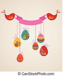 卵, イースター, レトロ