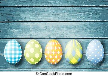 卵, イースター, 木, カラフルである, バックグラウンド。
