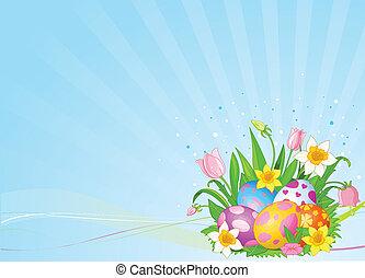 卵, イースター, 美しい, 背景
