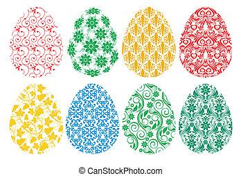 卵, セット, イースター, 華やか