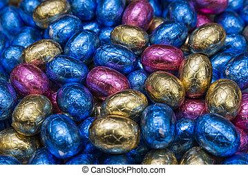 卵, チョコレート, イースター
