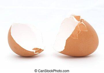 卵, 割れた, 開いた