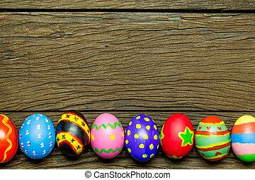 卵, 木, イースター, 背景