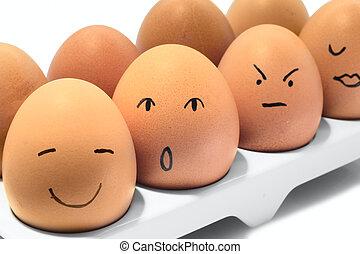 卵, 横列