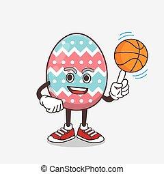 卵, 漫画, バスケットボール, イースター, 特徴, マスコット