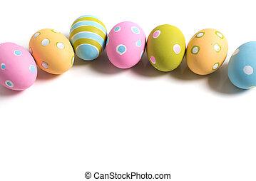 卵, 白, イースター, 飾られる, 背景