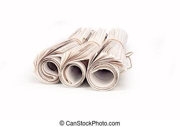 卷, 报纸,