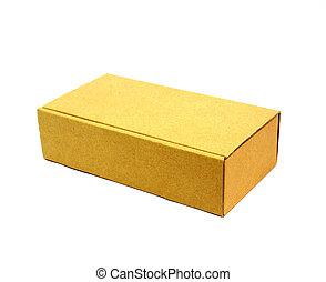 厚紙箱, 由于, 被隔离, 在懷特上