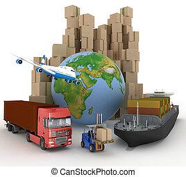 厚紙箱, 貨船, truc
