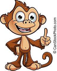 厚顏無恥, 猴子, 字
