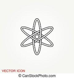原子, フィクション, 黒, 科学, アイコン, アイコン