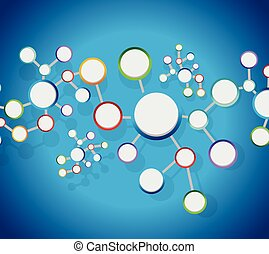原子, 図, リンク, ネットワーク, 接続