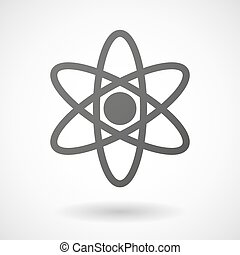 原子, 背景, 图标, 白色