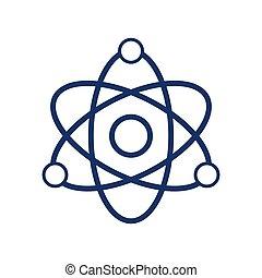 原子, 背景, 矢量, 白色, 描述, 图标