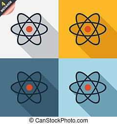 原子, icon., 部分, シンボル。, 印