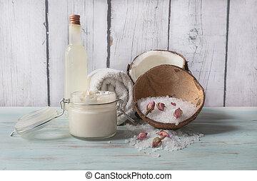 原料, ココナッツ, 自然, 手製, エステ