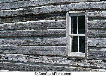 原木小屋, 窗口