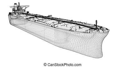 原油, 船, タンカー, オイル, 運搬人