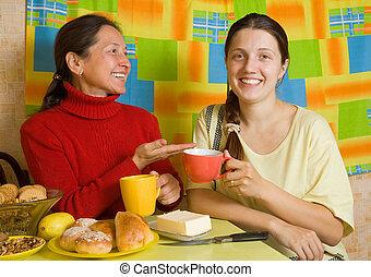 厨房, 家庭, 谈话