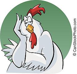 厭煩, 公雞