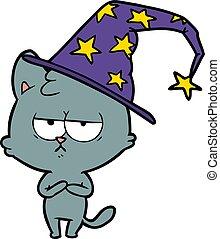 厭煩, 巫術師, 卡通, 貓