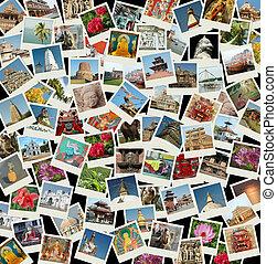 去, 亞洲, -, 背景, 由于, 旅行, 相片, ......的, 東部, 界標