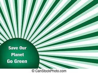 去, 抽象 概念, 綠色的背景