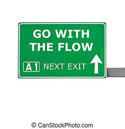 去, 由于, the, 流動, 路標, 被隔离, 在懷特上