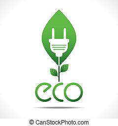 去, 能量, 概念, 綠色