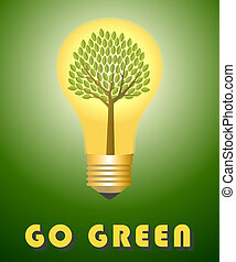 去, concept., 綠色